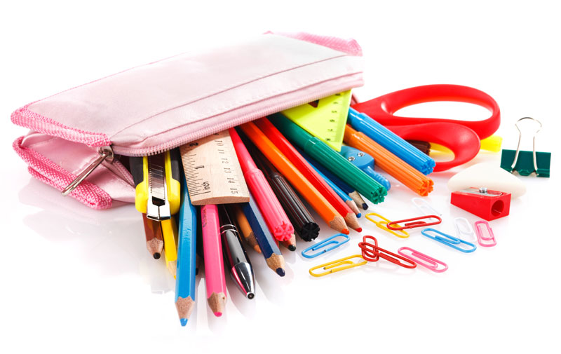 Do you have a separate pencil box for each stationery item?