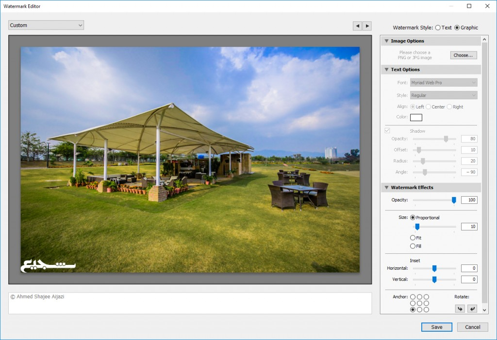 adding a graphic watermark in lightroom