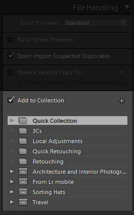file handling in lightroom