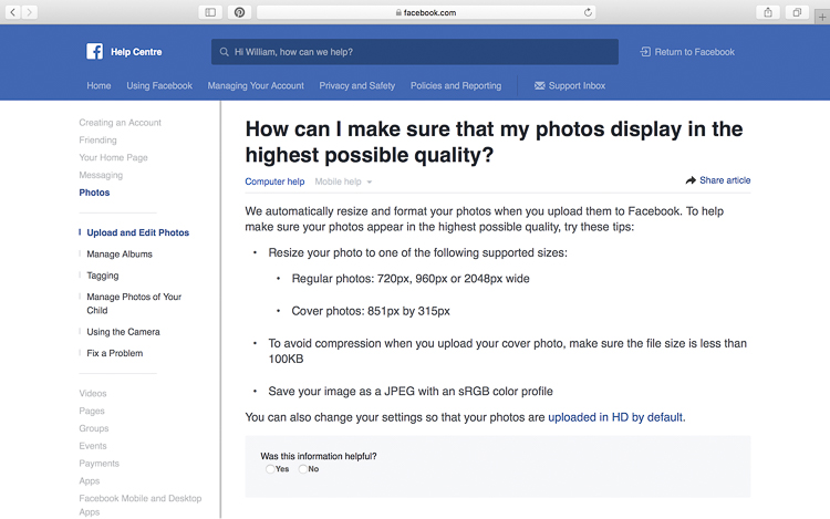optimize images for facebook