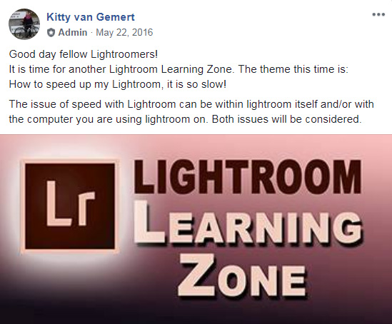 Lightoom related Facebook groups