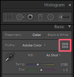 LUTs in Lightroom