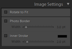 image settings panel
