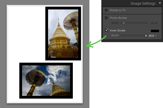 using image settings panel
