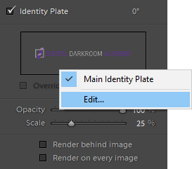 using Page panel to edit watermark