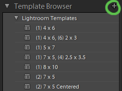 using template browser to save template